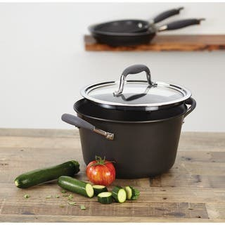 Anolon Advanced Hard-anodized Nonstick 4 1/2-quart Grey Tapered Saucepot|https://ak1.ostkcdn.com/images/products/5089648/P12945460.jpg?impolicy=medium