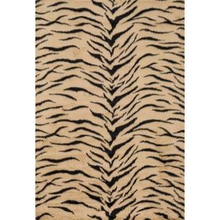 Jungle Faux Fur Tiger Print Animal Rug (2' x 3')