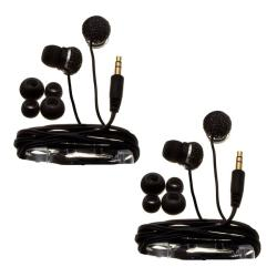Nemo Digital Black Crystal Pave Ball Earbud Headphones (Case of 2)