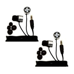 Nemo Digital Iron Cross Earbud Headphones (Case of 2)