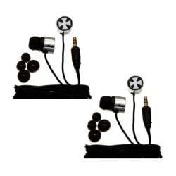 Nemo Digital Iron Cross Earbud Headphones (Case of 2) - Thumbnail 0