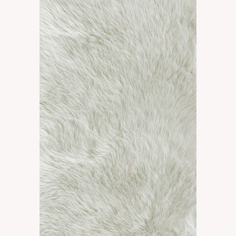 Strick & Bolton Verna Faux Sheepskin Ivory White Shag Area Rug