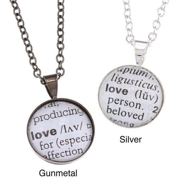 Recycled Dictionary Love Necklace