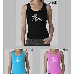 Los Angeles Pop Art Women's Mudflap Girl Tank Top