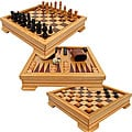 Wooden 7-in-1 Game Chess Backgammon Set
