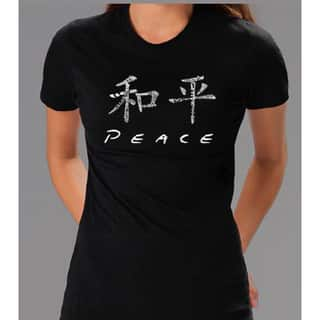 Los Angeles Pop Art Women's Chinese Peace Tee|https://ak1.ostkcdn.com/images/products/5089963/P12945625.jpg?impolicy=medium