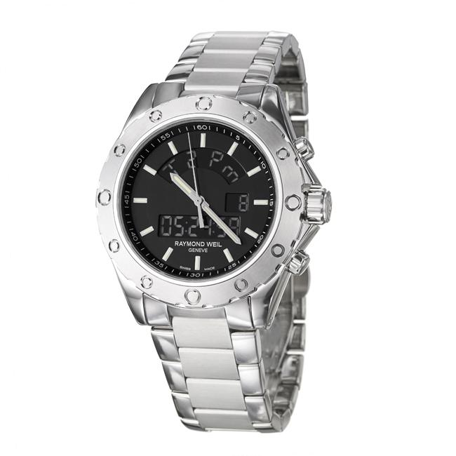 Raymond Weil Men's 'RW Sport' Stainless Steel Digital Display Watch