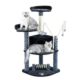 Go Pet Club 50-Inch Black Cat Tree Condo Scratcher