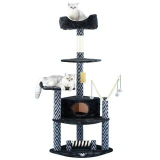 Go Pet Club 62-inch Cat Tree Furniture Condo Scratcher