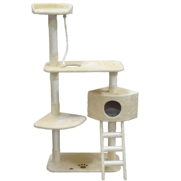 Shop 64 Inch Cat Tree Condo Scratcher Free Shipping