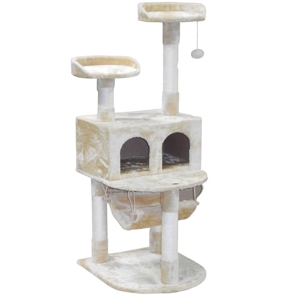 54-inch Cat Tree Condo House Shop - Free Shipping Today Overstock