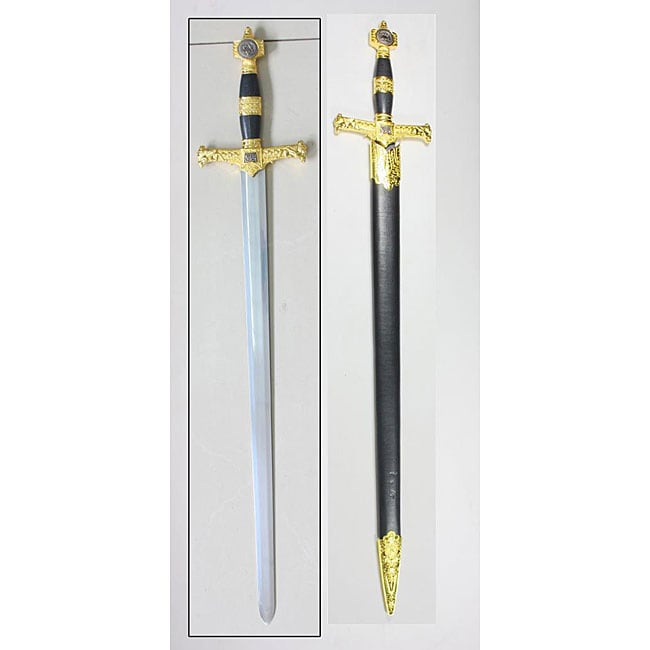King Solomon 31.5-inch Gold Sword with Scabbard