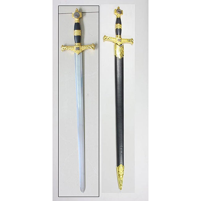 King Solomon 31.5-inch Gold Sword with Scabbard - Thumbnail 0