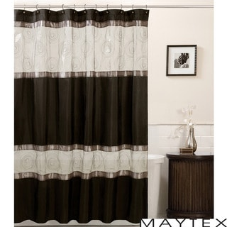 Black Shower Curtains - Overstock.com - Vibrant Fabric Bath Curtains
