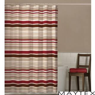 red and brown shower curtain. Maytex Meridian Stripe Shower Curtain Red Curtains For Less  Overstock com Vibrant Fabric Bath