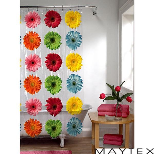 Maytex Gerber Daisy PEVA Shower Curtain