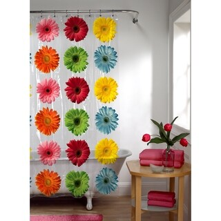 Maytex Gerber Daisy PEVA Shower Curtain