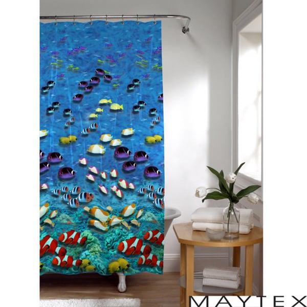 Maytex Fish Photoreal Shower Curtain