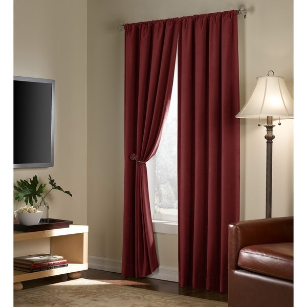 Velvet Blackout Energy Efficient Curtain Panel
