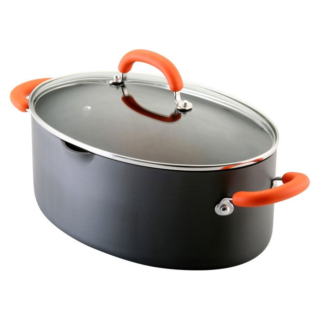 Rachael Ray Black 8-quart Covered Pasta Etc. Pot