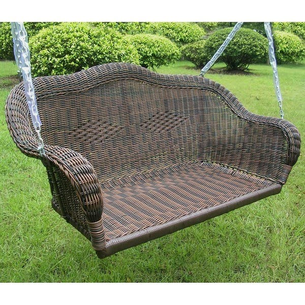 Brilliant Shop International Caravan Resin Wicker Hanging Loveseat Gmtry Best Dining Table And Chair Ideas Images Gmtryco
