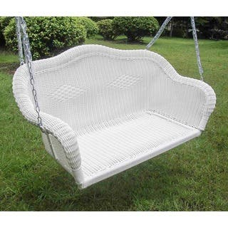 International Caravan Resin Wicker Hanging Loveseat Swing|https://ak1.ostkcdn.com/images/products/5093606/P12948418.jpg?impolicy=medium