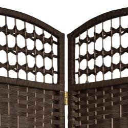 Handmade Woven Wood/ Fiber 5.5-foot Tall Room Divider (China)