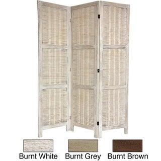 Woven Bamboo Matchstick 5.5-foot Room Divider (China)