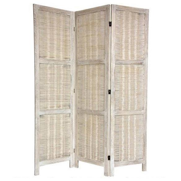 Handmade Woven Bamboo Matchstick 5.5-foot Room Divider (China)