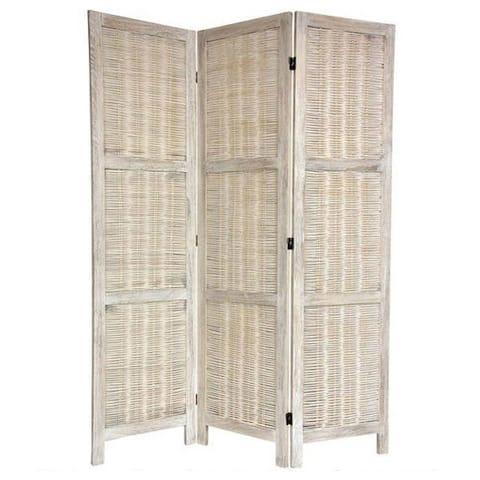 Handmade 5.5' Woven Bamboo Matchstick Room Divider