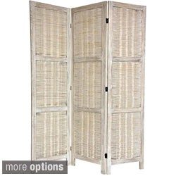 Handmade Woven Bamboo Matchstick 5.5-foot Room Divider (China)