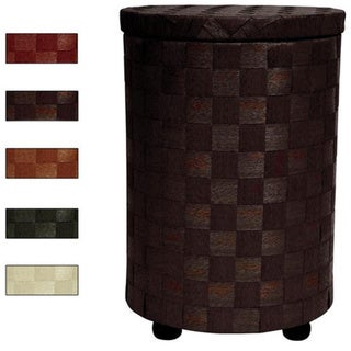 Handmade Natural Fiber 26-inch Laundry Hamper (China)
