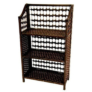 Handmade Natural Fiber 33-inch Shelving Unit (China)