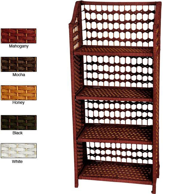 Handmade Natural Fiber 43-inch Shelving Unit (China)