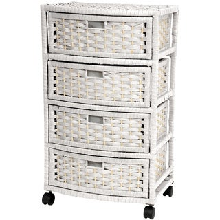 Handmade Natural Fiber 29-inch Chest of Drawers (China)