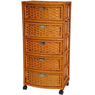 Handmade Natural Fiber 37-inch Chest of Drawers (China)