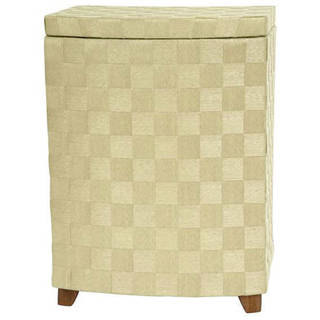 Handmade Natural Fiber 27-inch Laundry Hamper (China)