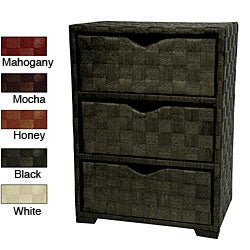 Handmade Natural Fiber 25-inch Chest of Drawers (China)