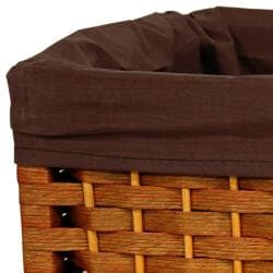 Handmade Natural Fiber 17-inch Basket (China) - Thumbnail 1