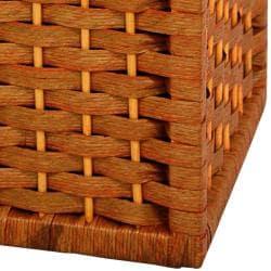 Handmade Natural Fiber 17-inch Basket (China) - Thumbnail 2