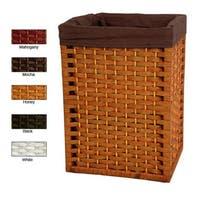 "Handmade Natural Fiber 17-inch Basket (China) - 17"""
