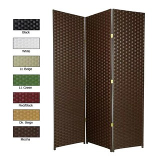 Handmade Woven Fiber 7-foot Room Divider (China)