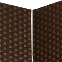 Handmade Woven Fiber 7-foot Room Divider (China) - Thumbnail 1