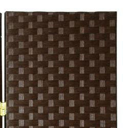 Handmade Woven Fiber 7-foot Room Divider (China) - Thumbnail 2