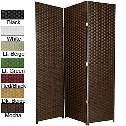 Handmade Woven Fiber 7-foot Room Divider (China) - Thumbnail 0