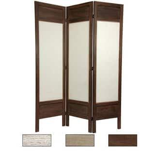 Handmade Wood/ Fabric Solid Frame 5.5-foot Room Divider (China)