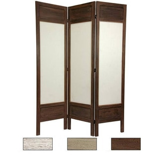 Handmade Wood/ Fabric Solid Frame 5.5 Foot Room Divider (China) (More More  Options