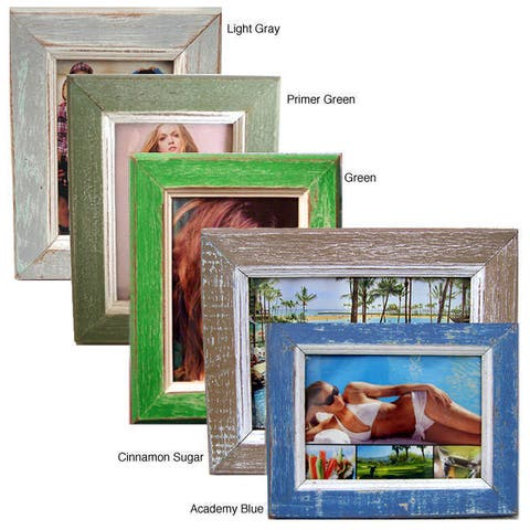 """Handmade Recycled Wood Picture Frame - 5"""" x 7"""" (Thailand)"""