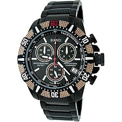 Roberto Bianci Men's Professional Commando Black Chronograph Swiss Quartz Watch