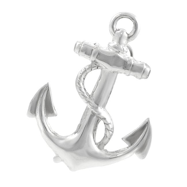 Journee Collection  Sterling Silver Anchor Pin